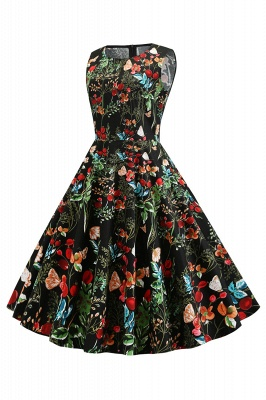 Wonderful Scoop Sleeveless A-line Zipper Fashion Dresses | Knee-Length Women's Dresses_12