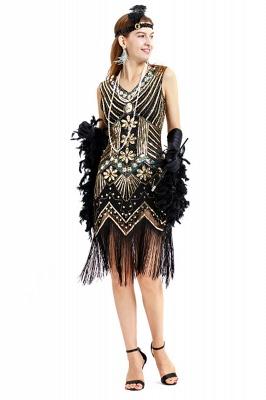V-neck Sleeveless V-Black Short Cocktail Dresses  Burgundy  Emerald Silver Sequined Dress_9