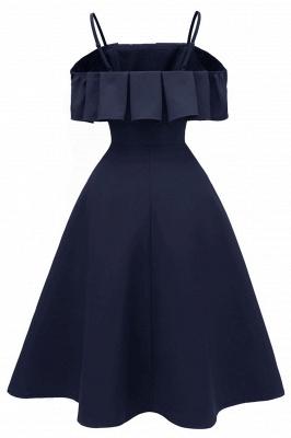 Lovely Spaghetti Straps Cascading Ruffles Vintage Short Dresses_9