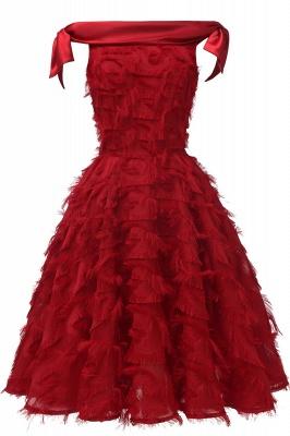 Stunning A-line Artificial Fur Retro Short Party Dress_3