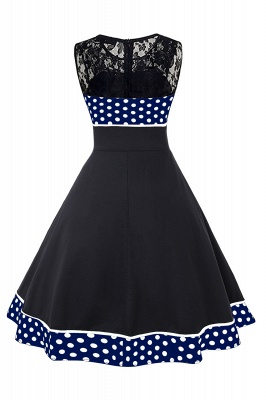 Gorgeous Sleevelwss Jewel Fashion Dresses | Polk-Dot Women's Dresses_3