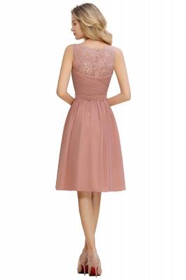 Cheap A-line Chiffon Ruffle Bridesmaid Dress Sleeveless Lace Homecoming Dress in Stock_20
