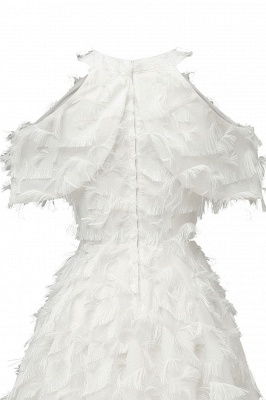 Gorgeous A-line High neck Artifical Feather Vintage Short Dresses_20