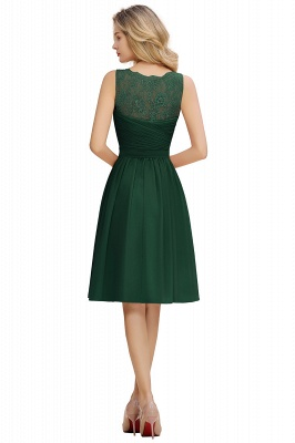 Cheap A-line Chiffon Ruffle Bridesmaid Dress Sleeveless Lace Homecoming Dress in Stock_18