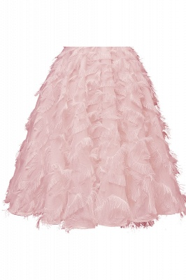 Stunning A-line Artificial Fur Retro Short Party Dress_10