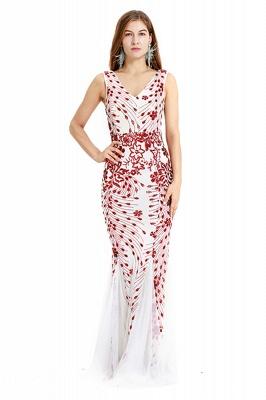 Cheap V-neck Long Prom Dresses   Sleeveless Floor Length A-line Evening Dresses_2