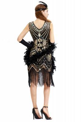 V-neck Sleeveless V-Black Short Cocktail Dresses  Burgundy  Emerald Silver Sequined Dress_7