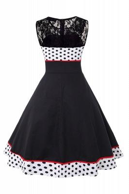 Gorgeous Sleevelwss Jewel Fashion Dresses | Polk-Dot Women's Dresses_5