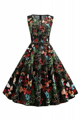 Wonderful Scoop Sleeveless A-line Zipper Fashion Dresses | Knee-Length Women's Dresses_4