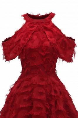 Gorgeous A-line High neck Artifical Feather Vintage Short Dresses_13