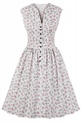 Glorious Jewel Sleeveless A-line Fashion  Dresses | Floral Knee-Length Women's Dress_1