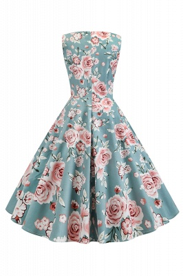 Wonderful Scoop Sleeveless A-line Zipper Fashion Dresses | Knee-Length Women's Dresses_8