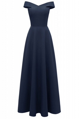 Simple Off-the-shoulder Bridesmaid Dress | Elegant Wedding Guest Dress_3
