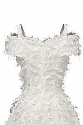 Artificial Fur Cap Sleeve Princess Short Homecoming Dress_20