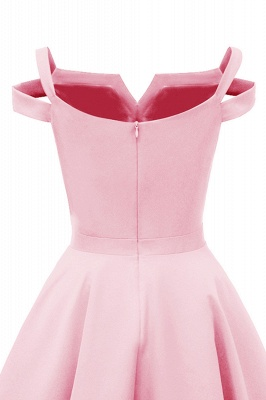 Lovely Cap Sleeves Princess Vintage Short Dresses with Straps_16