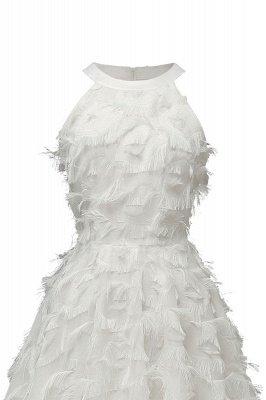 Gorgeous A-line Burgundy Halter Feather Princess Vintage Short Dresses_20