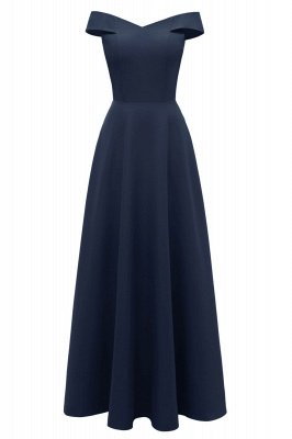 Simple Off-the-shoulder Bridesmaid Dress | Elegant Wedding Guest Dress_19