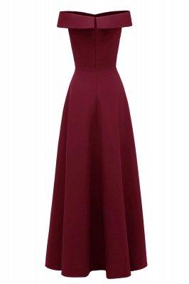 Simple Off-the-shoulder Bridesmaid Dress | Elegant Wedding Guest Dress_15
