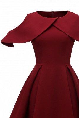 Lovely Scoop neck Half sleeves Front Cross Vintage Short Dresses_7
