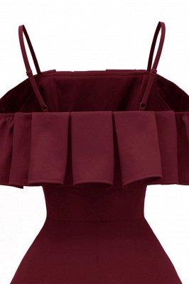 Lovely Spaghetti Straps Cascading Ruffles Vintage Short Dresses_8