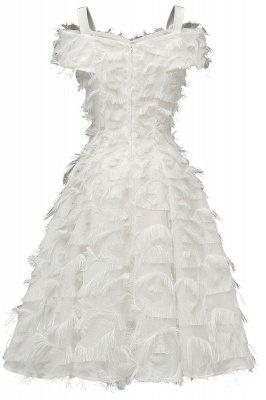 Artificial Fur Cap Sleeve Princess Short Homecoming Dress_17