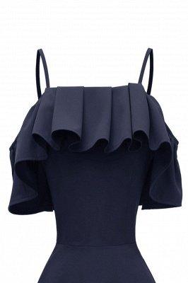 Lovely Spaghetti Straps Cascading Ruffles Vintage Short Dresses_10