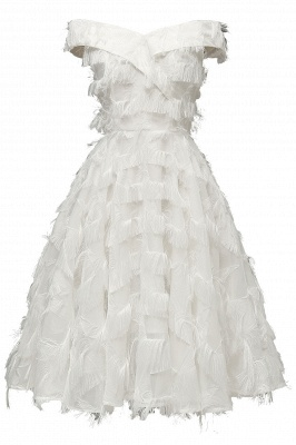Lovely off-the-shoulder Artifical Feather Princess Vintage Homecoming Dresses_1