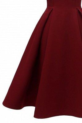 Lovely Scoop neck Half sleeves Front Cross Vintage Short Dresses_9