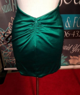 Simple Dark Green High Neck Homecoming Dress | Bodycon Sleeveless Short Mini Cocktail Dress_4