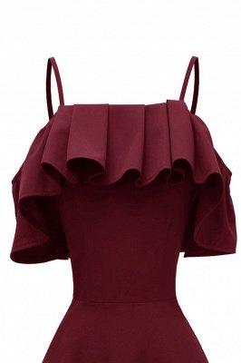 Lovely Spaghetti Straps Cascading Ruffles Vintage Short Dresses_7