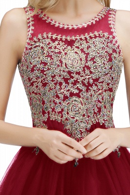 Cute Crew Neck Open Back Beaded Lace Appliques Homecoming Dresses_34