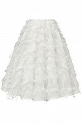 Gorgeous A-line High neck Artifical Feather Vintage Short Dresses_21