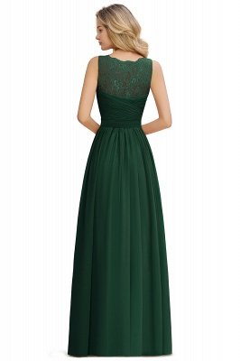 Simple V-neck Sleeveless Long Prom Dresses with soft Pleats_18