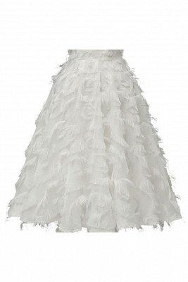 Gorgeous A-line Burgundy Halter Feather Princess Vintage Short Dresses_21