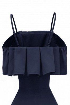 Lovely Spaghetti Straps Cascading Ruffles Vintage Short Dresses_11