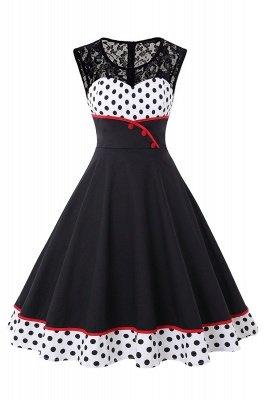 Gorgeous Sleevelwss Jewel Fashion Dresses | Polk-Dot Women's Dresses