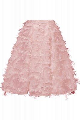 Artificial Fur Cap Sleeve Princess Short Homecoming Dress_10