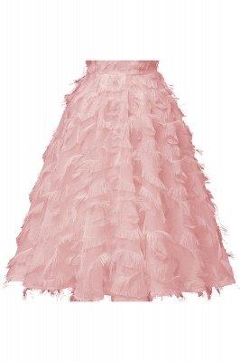 Gorgeous A-line Burgundy Halter Feather Princess Vintage Short Dresses_2