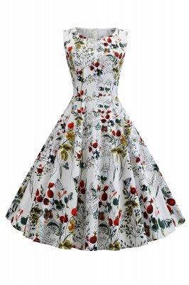Wonderful Scoop Sleeveless A-line Zipper Fashion Dresses | Knee-Length Women's Dresses