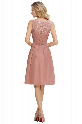 Cheap A-line Chiffon Ruffle Bridesmaid Dress Sleeveless Lace Homecoming Dress in Stock_22