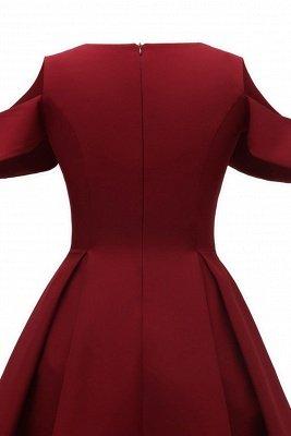 Lovely Scoop neck Half sleeves Front Cross Vintage Short Dresses_8