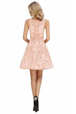 Princess V-neck Knee Length Lace Appliques Homecoming Dresses_16