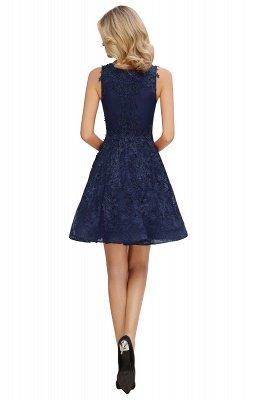 Princess V-neck Knee Length Lace Appliques Homecoming Dresses_13