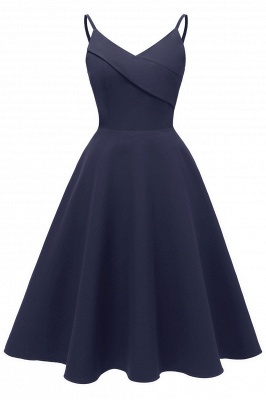 Stunning Spaghetti Straps Sleeveless Princess Vintage Dresses_3