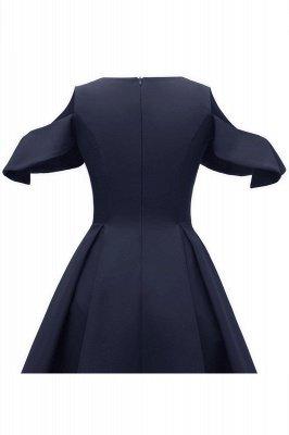 Lovely Scoop neck Half sleeves Front Cross Vintage Short Dresses_12