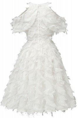 Gorgeous A-line High neck Artifical Feather Vintage Short Dresses_18