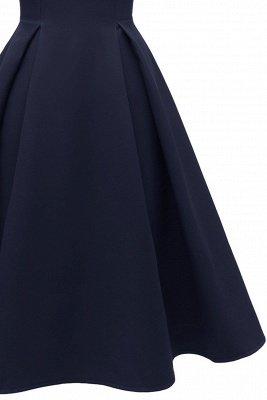 Lovely Scoop neck Half sleeves Front Cross Vintage Short Dresses_13