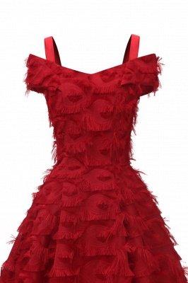 Artificial Fur Cap Sleeve Princess Short Homecoming Dress_16