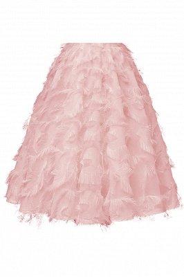 Gorgeous A-line High neck Artifical Feather Vintage Short Dresses_11