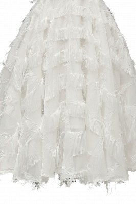 Lovely off-the-shoulder Artifical Feather Princess Vintage Homecoming Dresses_19